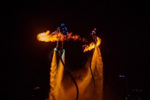 Flyboard Water And Fire show